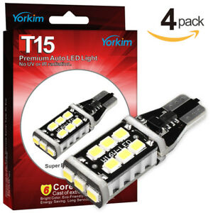 Yorkim T15 912 921 Led Bulbs Canbus Error Free With 15 2835 Chips Led Bulbs