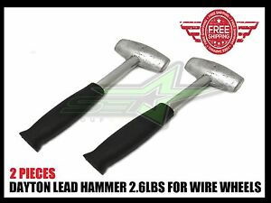 2 Lead Hammers 2 6 Lbs Dayton Type Wire Wheels Adapter Knock Off Luxor Og Zenith