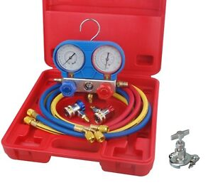 Speedway A C Manifold Gauge Set Test Fill Evacuate Automotive Air Conditioner