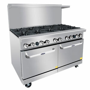 New 60 10 Burner Range 2 Ovens Gas Or Lp Atosa Ato 10b 6043 Commercial Stove
