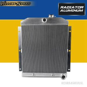 For Chevy 3100 3600 3800 Truck Pickup L6 Aluminum Racing Radiator 1947 1954