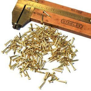 250pcs 5 16 8mm 1mm G18 Small Solid Brass Brads Escutcheon Pins Eu