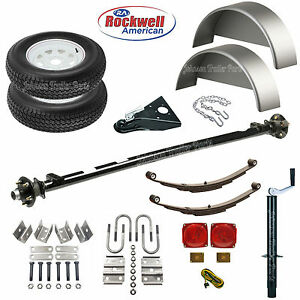 4 Wide Utility Trailer Parts Kit 3 500 Lb Trailer Axle Model 1108 61 46