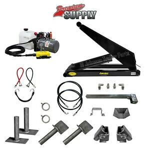 10 Ton 20 000 Lb Dump Trailer Hydraulic Scissor Hoist Kit Ph520 Power Hoist