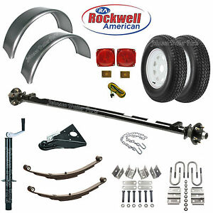 5 Wide Utility Trailer Parts Kit 2 000 Lb Trailer Axle Model T1108 73 58