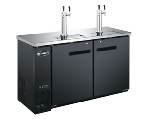 New 60 2 Door Direct Draw Draft Beer Cooler Saba Sdd 24 60 4483 Nsf Kegerator