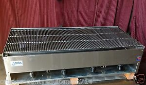 New 48 Lava Rock Char Broiler Grill Gas Stratus Scb 48 1227 Commercial Burger
