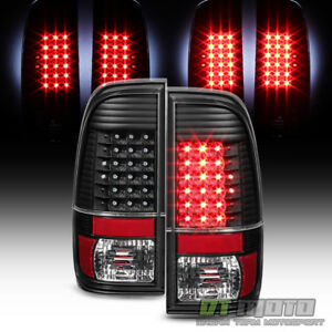 Blk 1997 2003 Ford F150 1999 2007 F250 F350 F450 Superduty Led Tail Lights Lamps