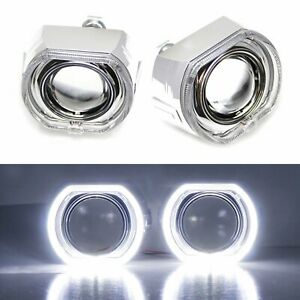 3 0 H1 Bi xenon Projector Lens Dtm Square Led Halo Ring Shrouds For Headlights