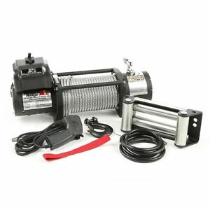 Rugged Ridge 15100 20 Spartacus Heavy Duty Winch W Steel Cable 12500 Lbs