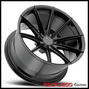20 Blaque Diamond Bd11 Deep Concave Black Wheels Rims Fits Ford Mustang Gt