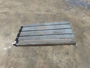 39 25 X 21 125 Steel Welding T slotted Table Cast Iron Layout Plate 3 Slot