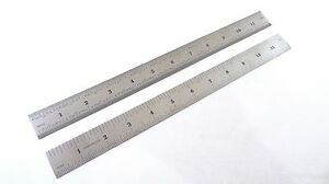 Taytools 12 Machinist Ruler Rule 4r 8th 16th 32th 64th Stainless Steel
