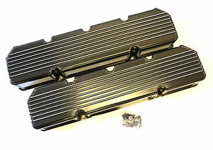 Amc jeep 290 401 Finned Fabricated Valve Covers Black