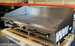 New 72 Griddle Gas Flat Top Grill 12 Back Splash Stratus Smg 72 sb 12h 4101