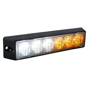 6w Led Emergency Vehicle Strobe Warning Light Head Amber White
