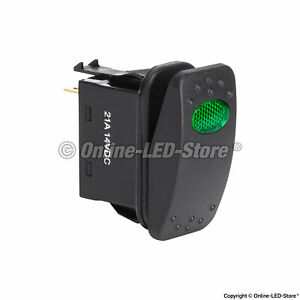 12v Dc 20a Spst Power Green On off Rocker Toggle Switch For Automotive Boat