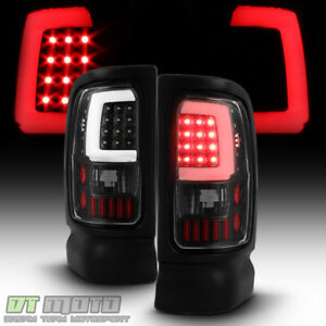 Black 1994 2001 Dodge Ram 1500 2500 3500 Led Tube Tail Lights Lamps Left Right