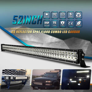 6d 52inch 700w Curved Led Work Combo Light Bar Fit For Gmc Chevrolet Silverado