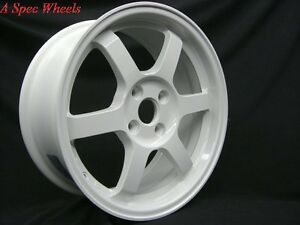 16x7 40 Rota Grid White 4x100 Wheel Fits Integra Mini Cooper S Jcw Miata Civic