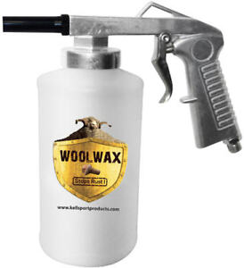 Air Undercoating Spray Gun With 2 Qt Bottles