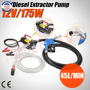 12v Dc Electric Fuel Transfer Pump For Diesel Kerosene Oil Commercial