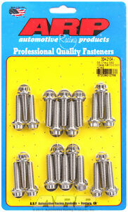 12 pt Head Stainless Intake Manifold Bolts For Chevrolet Sb 2 Standard Deck