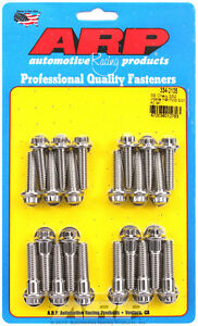 Hex Head Stainless Intake Manifold Bolts For Chevrolet Sb 2 Tall Deck