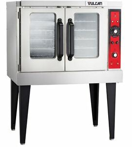 New Commercial Electric Convection Oven Full Size Single Deck Vulcan Vc3ed