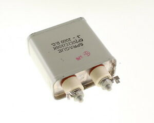 1x 1mfd 2000vdc Hermetically Sealed Oil Capacitor 1uf 2000v Dc 2 000 Volts