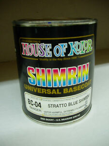 Bc04 Stratto Blue Shimrin House Of Kolor Glamour Metallic Basecoat 1 Quart
