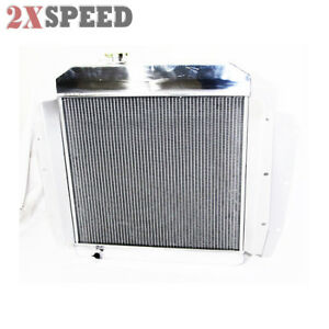 Fit 55 58 Chevy k series Truck Pickup 3 Core Performance Radiator