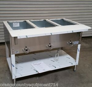 New 3 Well Lp Propane Steam Table Duke Aerohot 303 lp Dry Bath 5938 Commercial