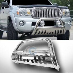Fits 05 19 Nissan Frontier Chrome Bull Bar Brush Push Bumper Grill Grille Guard