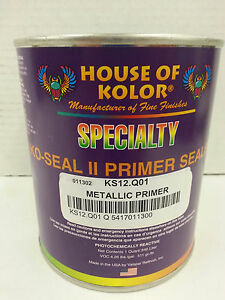 Ks12 Silver Metallic Ko seal Urethane Primer Sealer 1 Quart House Of Kolor