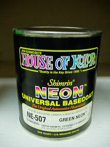 Ne507 Green Neon Ne 507 House Of Kolor 1 Quart