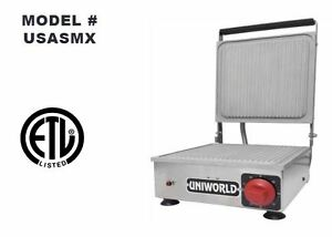 New 10 X 10 Panini Grill Ribbed Plate Uniworld Usasmx New 2529 Commercial Etl