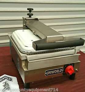 New 14x13 Panini Grill Grooved Ribbed Uniworld Usasx 2453 Commercial Restaurant