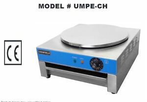 New 15 75 Round Pancake Crepe Machine Umpe ch 4530 Commercial Flat Grill