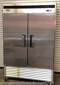 New 2 Door Reach In Freezer Atosa Mbf8503 1931 Commercial Stainless Steel Nsf