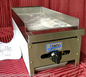 New 12 Flat Top Griddle Stratus Smg 12 1049 Commercial Gas Hot Plate Grill Nsf