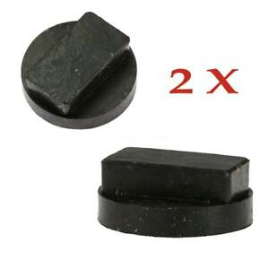 2x Car Auto Rubber Jacking Pad Tool Jack Pad Adapter Avoid Sill Damage For Bmw