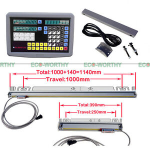 Cnc 2 Axis Dro Digital Readout Display Meter For Milling Lathe Machine Us