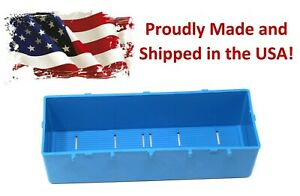 Plastic Blue Parts Storage Bins Peg Tool Board Workbench Pegboard Not Included