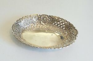Unusual Antique Gorham Sterling Silver Reticulated Edge Basket 150 Grams