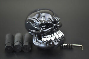 New Cool Skull Type Manual Car Gear Stick Shift Knob Shifter Lever Cover Black
