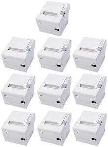lot Of 10 Epson Tm t88iv Pos Thermal Printer Micros Idn Interface Cool White