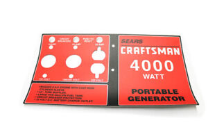 Generac Portables Parts 82862gs Decal Pcp Srs Generator Gen 82862gs