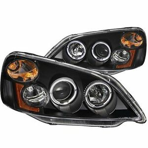 Anzo 121055 Projector Head Lights Lamp Black With Halo For 2001 2003 Honda Civic