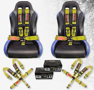 Stv Motorsports Safety Seat Belt Harness V Type Latch And Link 5 Point 3 Yellow